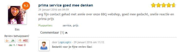 De mobiel BBQ review LogoLogics webshops