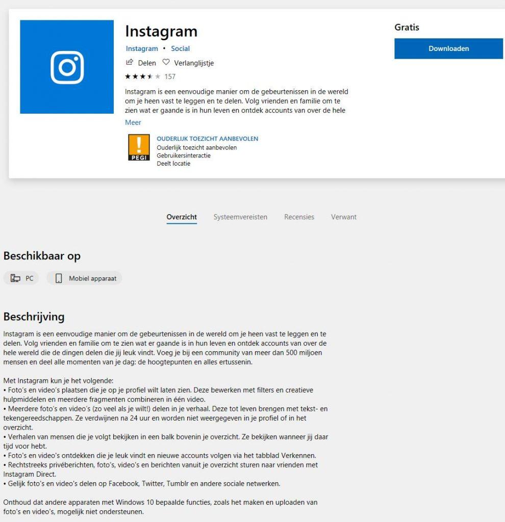 Instagram afbeeldingen plaatsen vanaf je pc