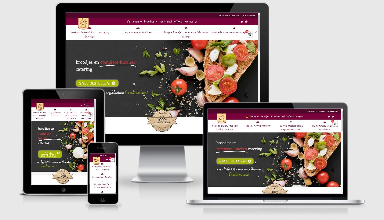 Broodjes catering webshop