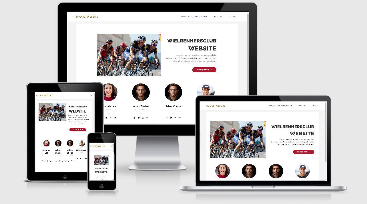 budgetwebsite wielrennersclub
